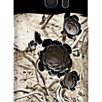 Cell Phone Case featuring black flowers